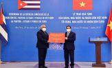 Thủ tướng Phạm Minh Chính trao tặng nhân dân Cuba 10 nghìn tấn gạo