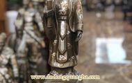 Tượng đồng Lý Thái Tổ khảm tam khí Dương Quang Hà oai nghiêm với thiên đô chiếu