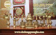 Đồ thờ cúng bằng đồng và ý nghĩa trong văn hoá thờ cúng