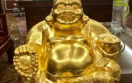 Tượng đồng Di Lặc - Phật cười cho nhân gian cười