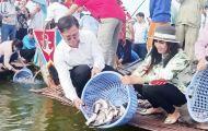 Thả hơn 284.500 con cá xuống Búng Bình Thiên