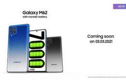 Samsung Galaxy M62 chính thức ra mắt - pin 'khủng' lên tới 7000mAh