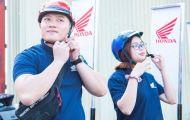 Những vòng lăn bánh đẹp mắt của đoàn roadshow Air Blade tại Đồng Nai